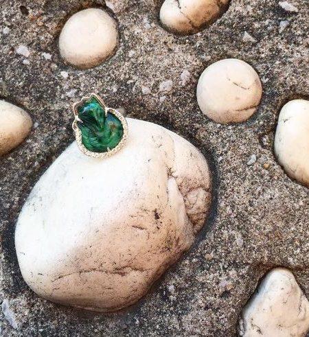 Nhẫn Hồ Ly Cẩm Thạch Xanh Lá